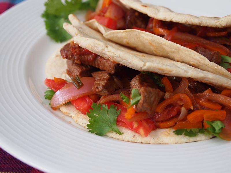 Filled lomo tacos, a good option.