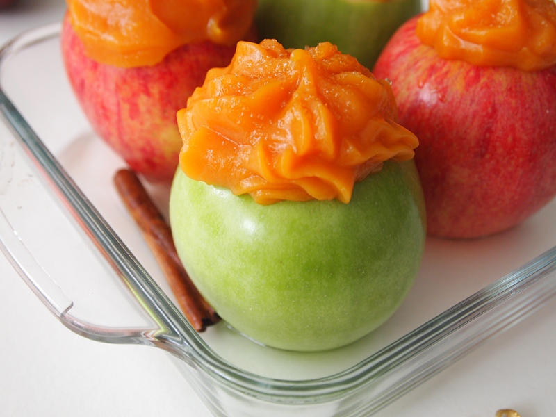 Baked Apples with Sweet Potato Puree